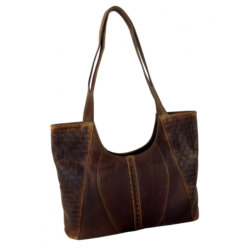 Casual Woven Leather Bag ''Margala''