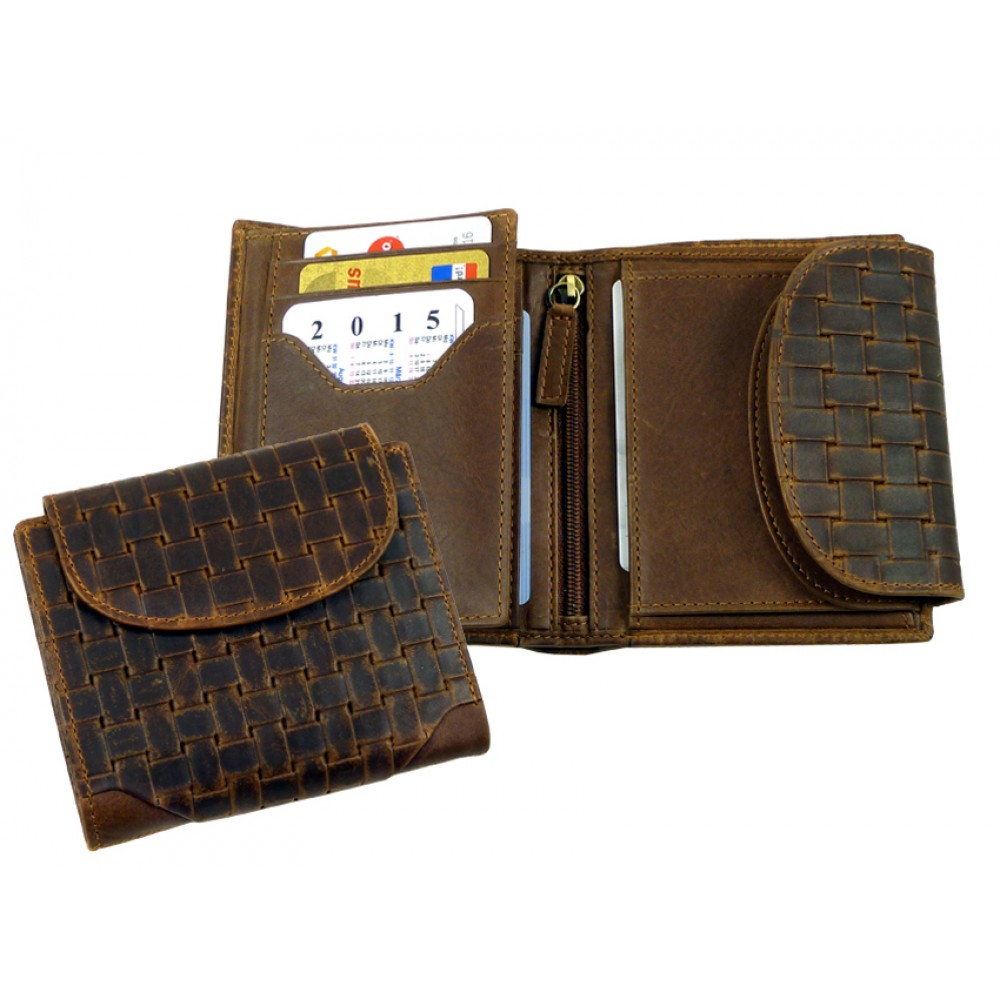 Woven Leather Wallet ''Vintage Series''
