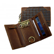 Woven Leather Keys Etui ''Vintage Series''