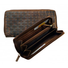 Handmade Woven Leather Wallet ''Vintage Series''