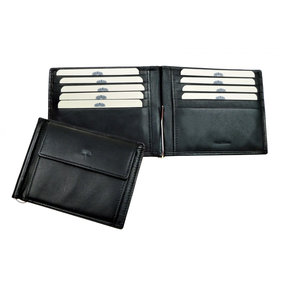 Money Clip / Clip Wallet ''Scotty'' Series in Black & Brown