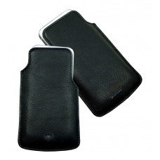 Leather Cell Phone Etui ''Scotty'' Series in Black & Brown Colors