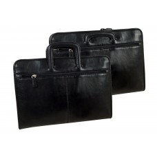 Soft Leather Conference Folder / Business Folder / College Folder Blacky Series-Water Resistant