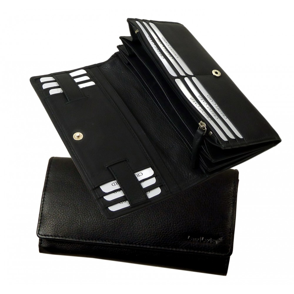 Soft Leather Wallet from Blacky Series, Water Resistant