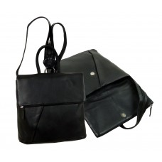 Soft Leather Flat Backpack from Blacky Series