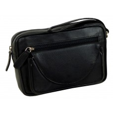 Mens Pouch/ Hand bag, Soft Leather, Water Resistant