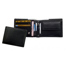 Soft Water Resistant Leather Wallet ''Blacky'' Series