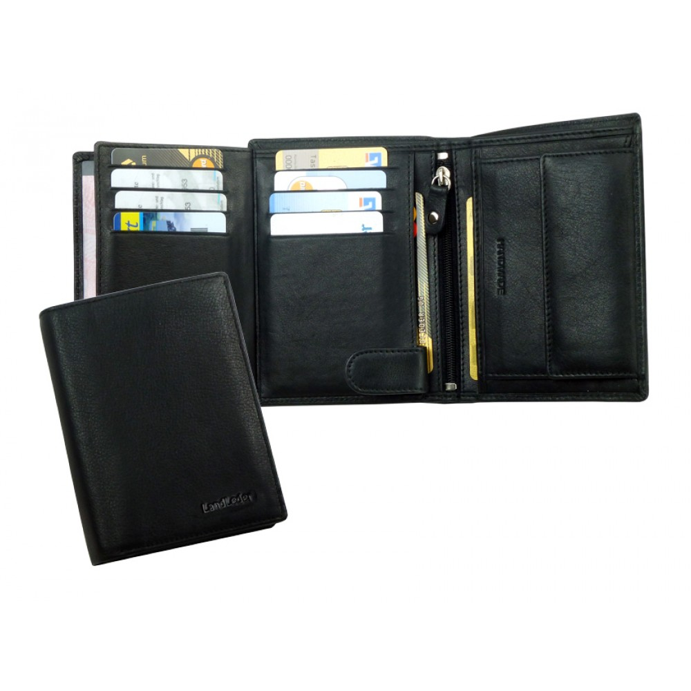 Soft Water Resistant Leather Combi Wallet Blacky Series