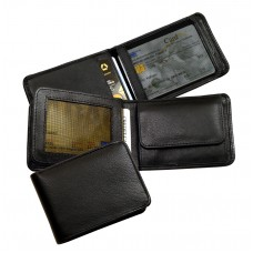 Soft Water Resistant Leather Mini Wallet Blacky Series