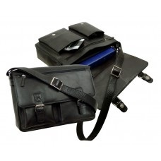 Handmade Water Resistant Messenger Bag Blacky Series UNISEX