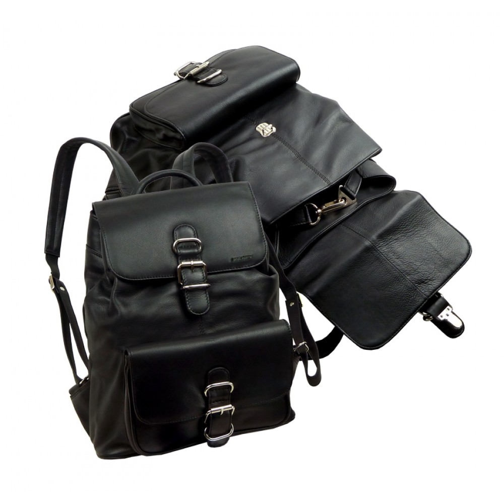 Soft Water Resistant Leather Bagpack from Blacky Series