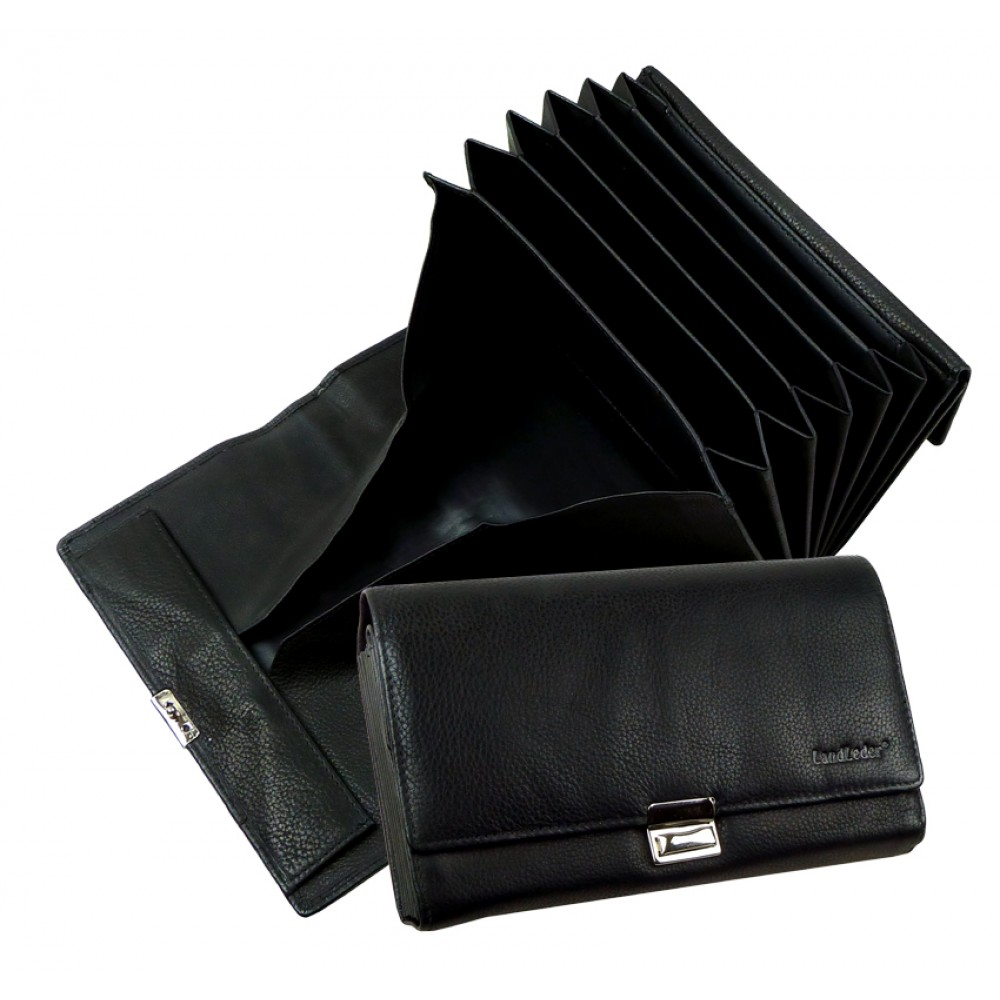 Soft Leather Handmade Waiters Wallet Blacky Series, Water Resistant