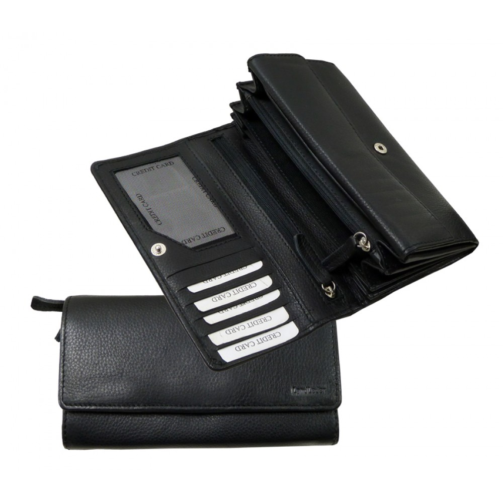 Handmade Soft Leather Wallet Blacky Series
