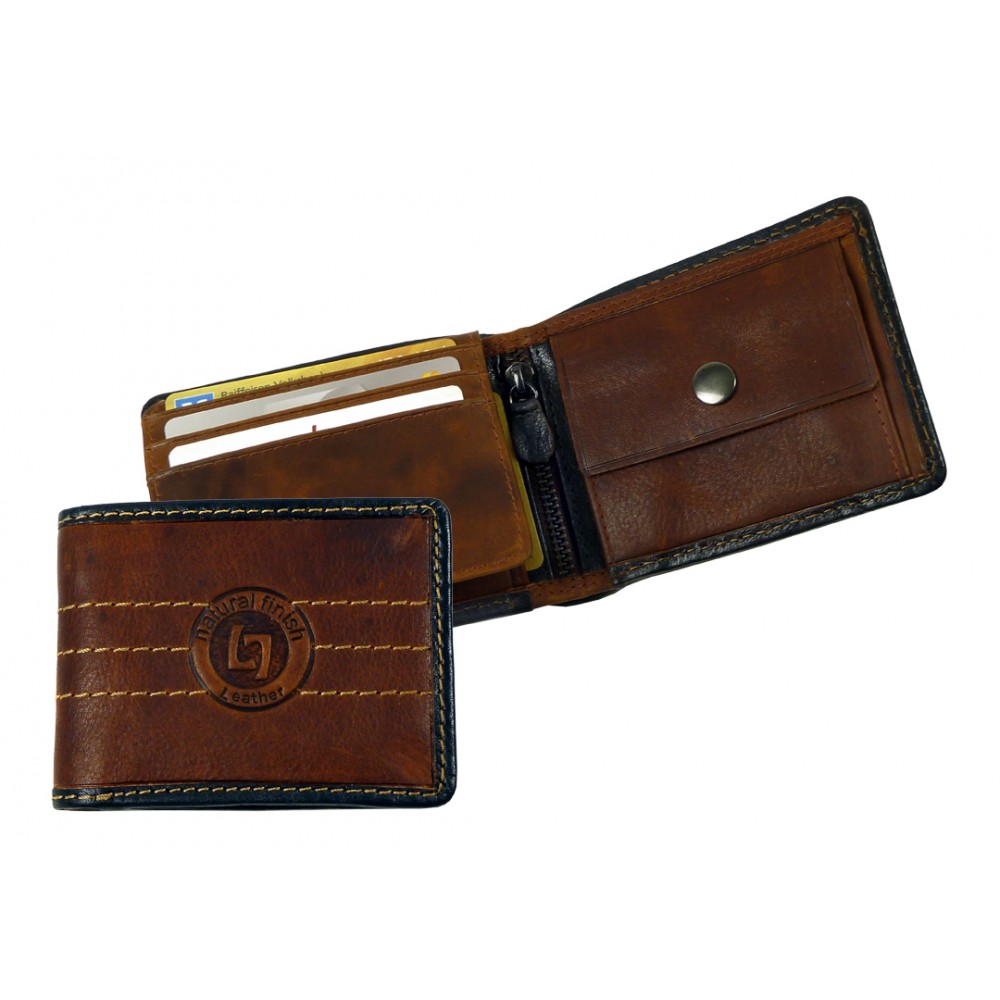 Handmade Premium Leather Wallet Woodland Series