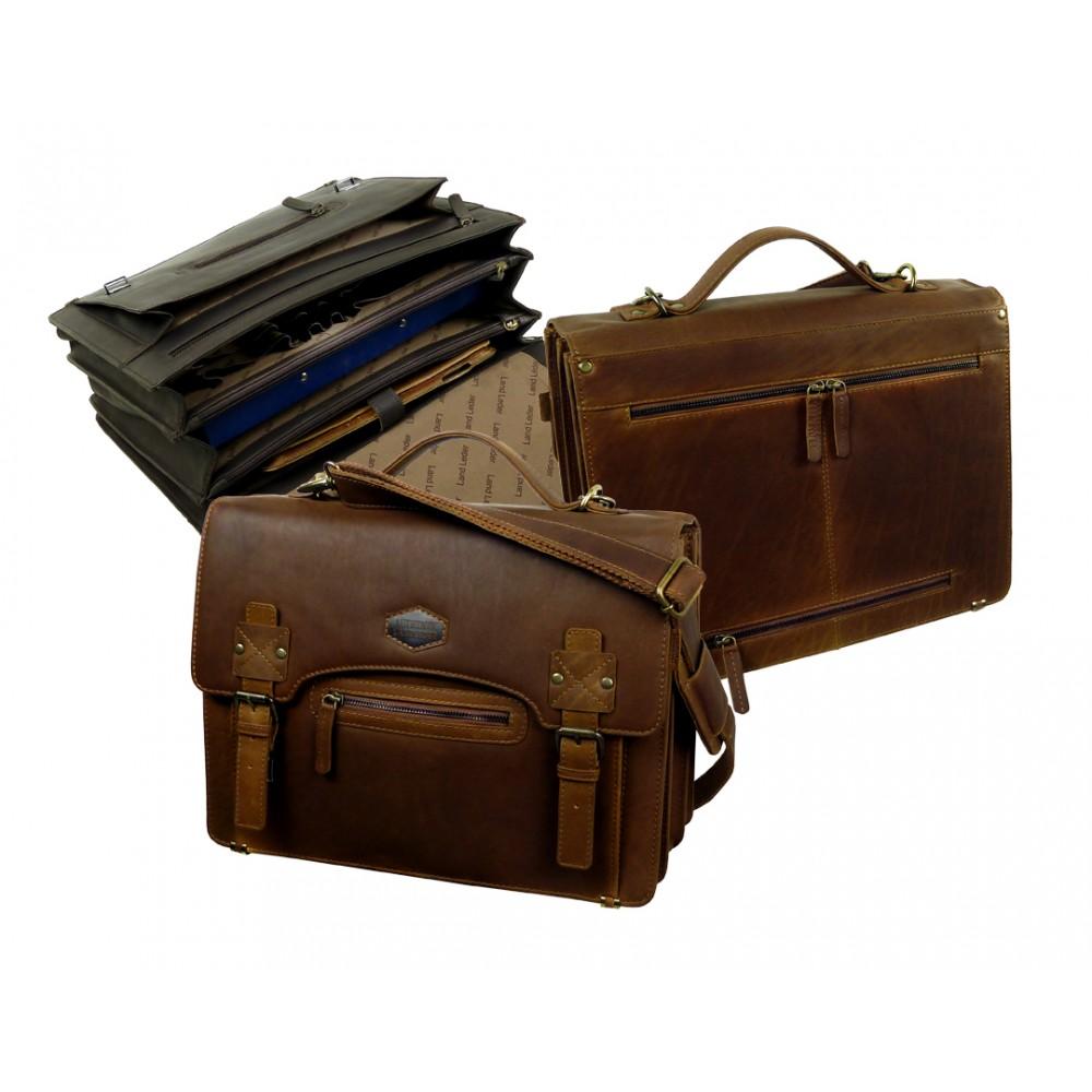 Handmade Leather Business Bag Woodland Series