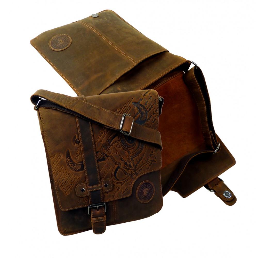 Handmade Casual Cross Bag from BULL & SNAKE Series UNISEX