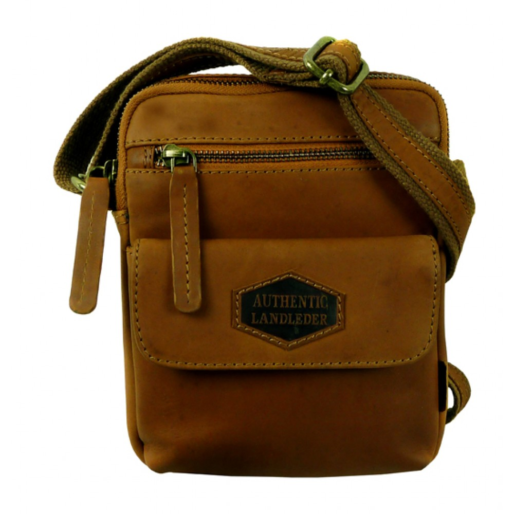 Handmade Casual Leather Bag from Woodland Series UNISEX